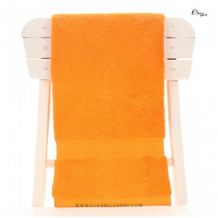 Single Egyptian Cotton Orange Bath Towel